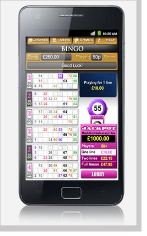 Mobile Bingo Android Phone